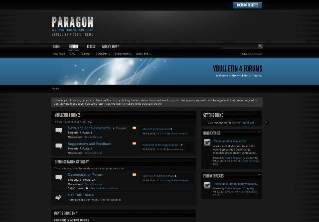 Paragon A vBulletin 4 Suite Theme