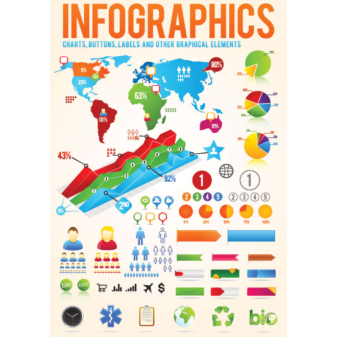 Vector Infographic designer Kit