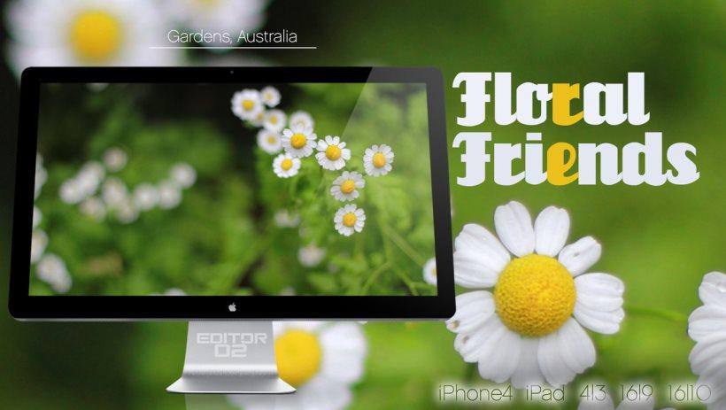 Floral Friends Wallpaper