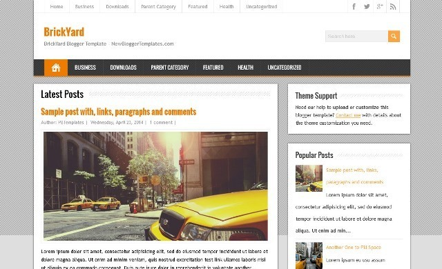 BrickYard Blogger Template