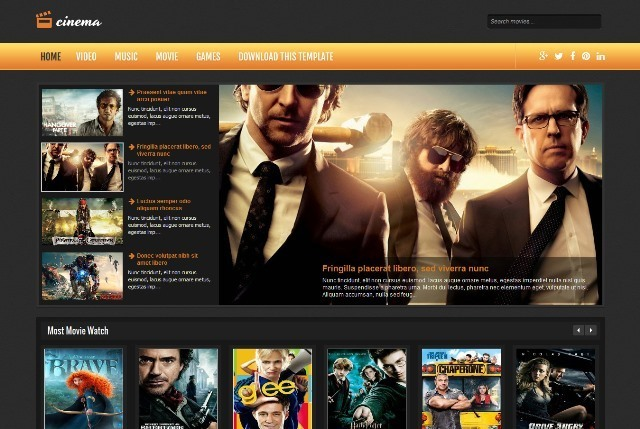 Cinema Entertainment Blogger Template