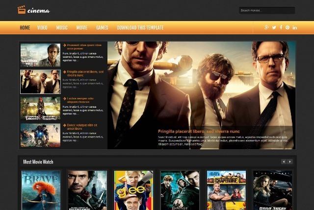 Cinema Entertainment Blogger Template