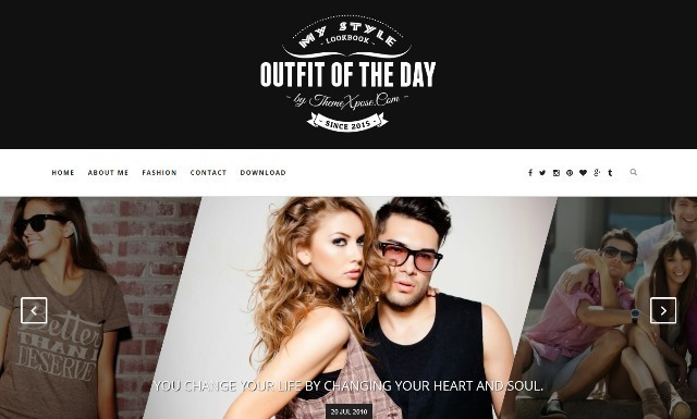 Outfit Responsive Blogger Template