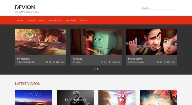 Devion video sharing WordPress theme