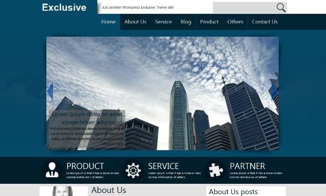 Exclusive business WordPress theme