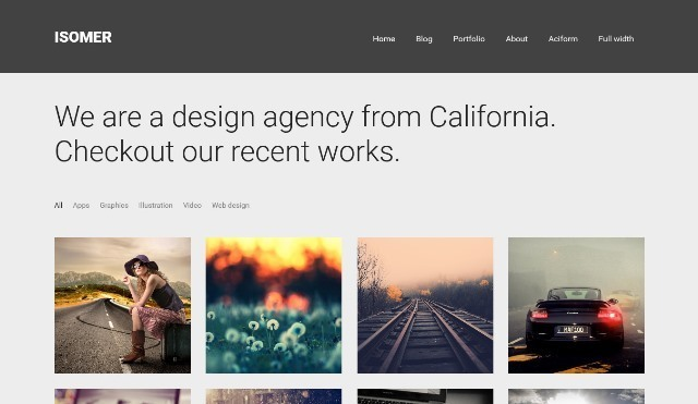 Isomer WordPress theme for Portfolio