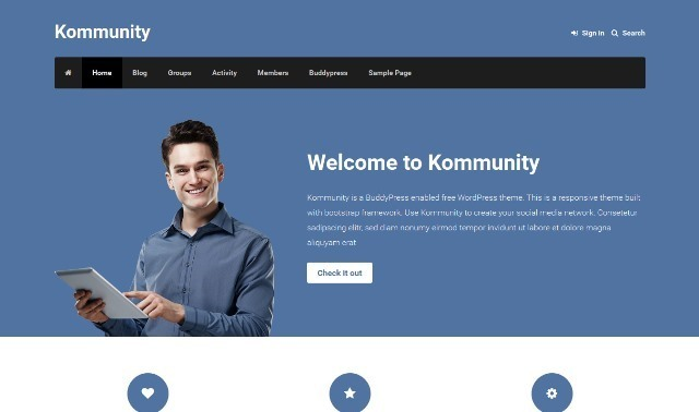 Kommunity WordPress Theme