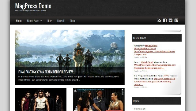 Magimo magazine WordPress theme