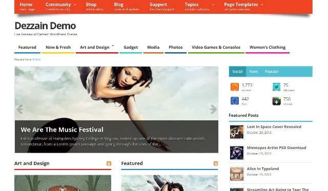 MesoColumn  WordPress Theme