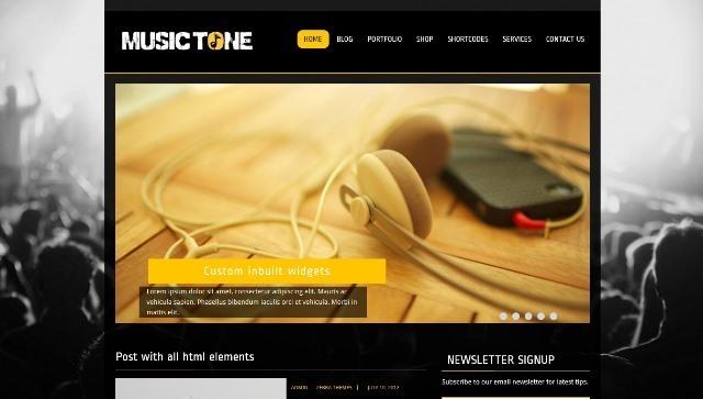 MusicTone WordPress Theme