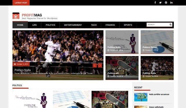 ProfitMag responsive magazine wp theme