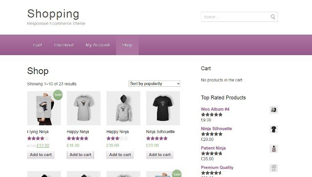 Shopping Free e-Commerce wp theme