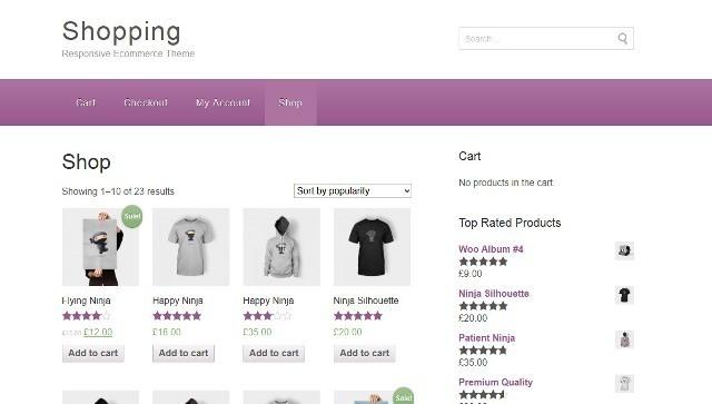 Shopping Free e-Commerce wp theme