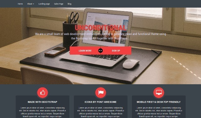 Unconditional multipurpose WordPress theme