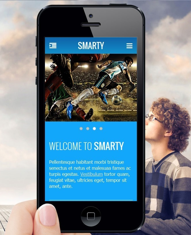 Smarty - Mobile & Tablet Responsive Web Template