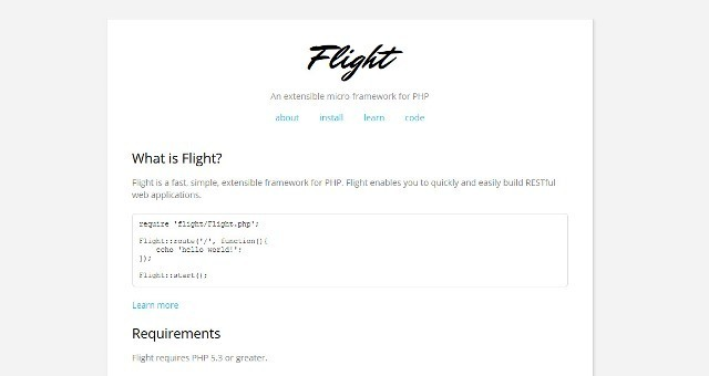 Flight PHP