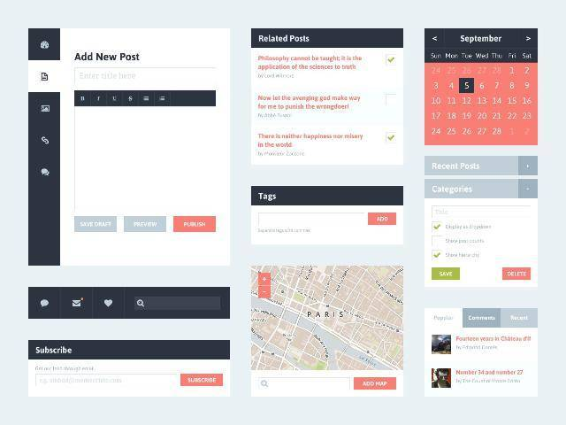 Flat UI Kit 2 (Blog)