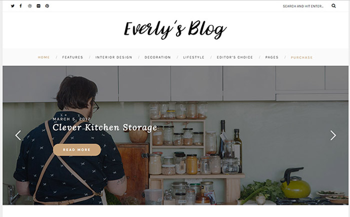 Everly - Hipster Blog WordPress Theme