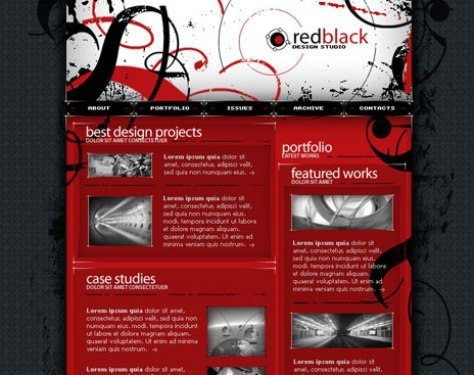 Red PSD Template
