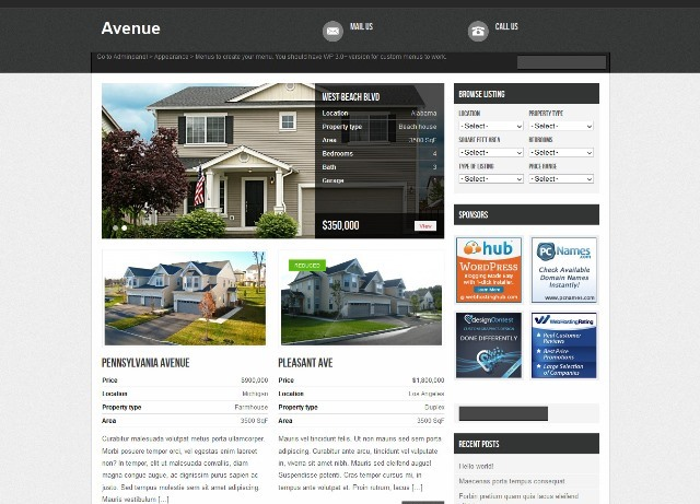Avenue Free Real Estate WordPress Theme