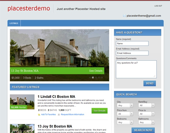 Columbus Free Real Estate WordPress Theme