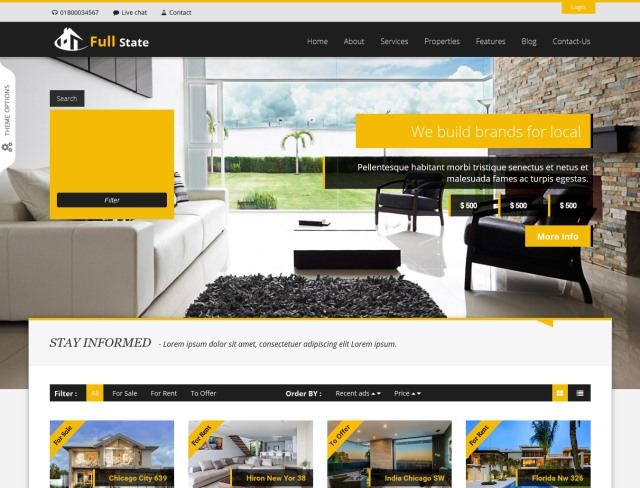 Full Estate Real Estate WordPress Theme