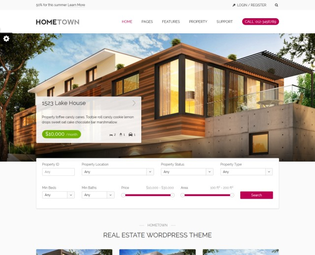 Hometown Real Estate WordPress Theme