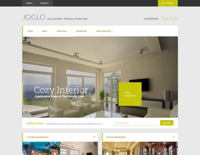 Joglo Real Estate WordPress Theme