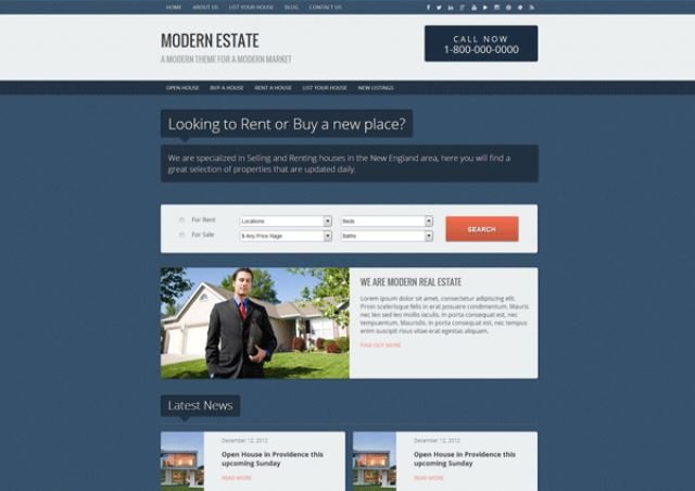 Modern Estate Free Real Estate WordPress Theme