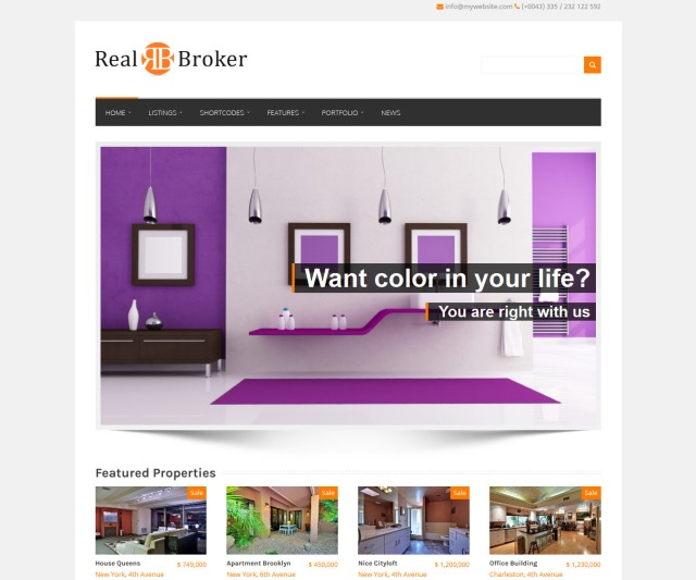 Realbroker Real Estate WordPress Theme