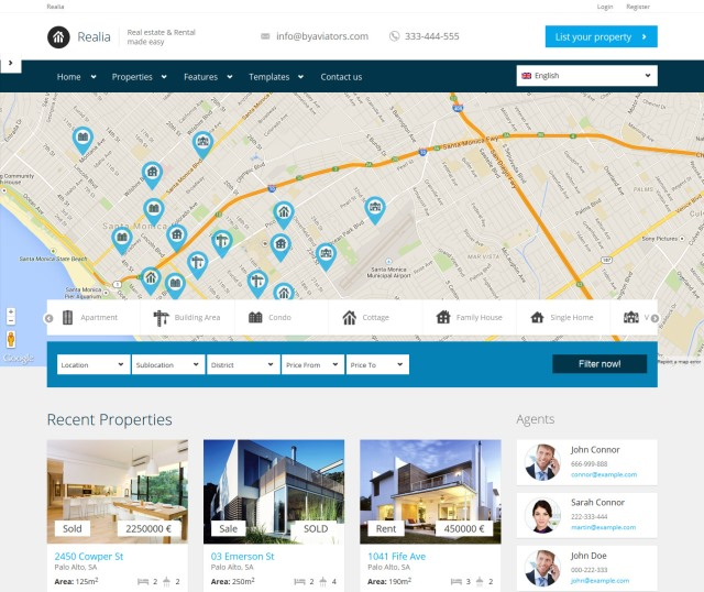 Realia Real Estate WordPress Theme