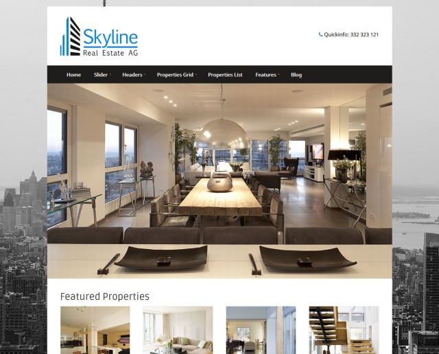 Skyline Real Estate WordPress Theme