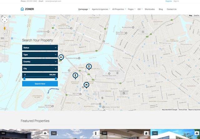 Zoner Real Estate WordPress Theme
