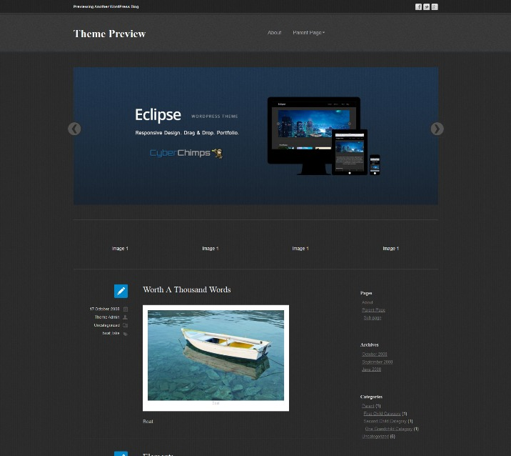 Eclipse Free Responsive WordPress Theme