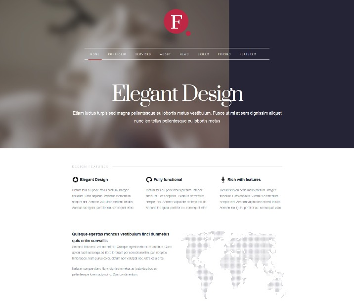 Finale Elegant WordPress Theme