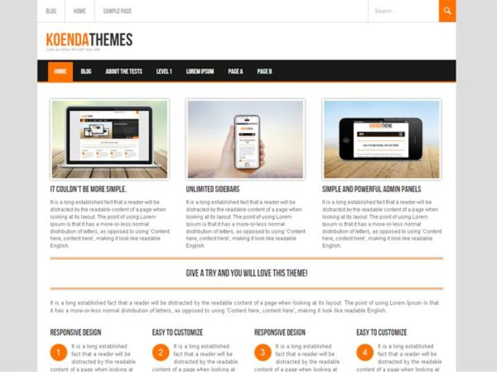 Koenda Free Responsive WordPress Theme